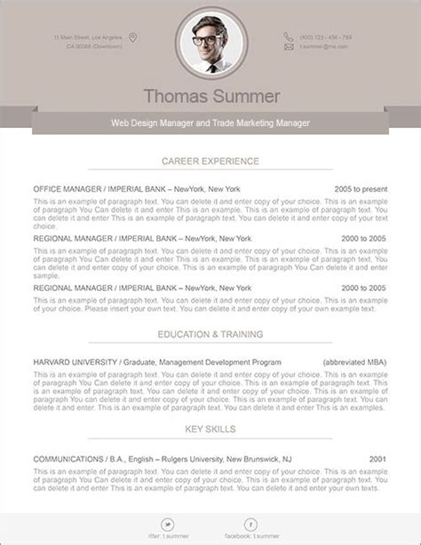 How To Edit Resume On Mac by Modern Resume Template Resume Templates And Resume Cover