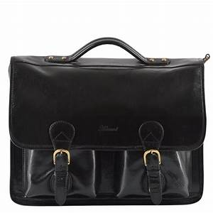 Mens Leather Briefcase Black/vt : 8190 | Mens Leather Bags