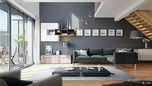 Wohnzimmer Einrichten Farben : modernes wohnzimmer einrichten in den farben grau beige ~ Lizthompson.info Haus und Dekorationen