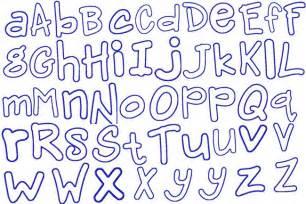 Free Applique Alphabet Letters