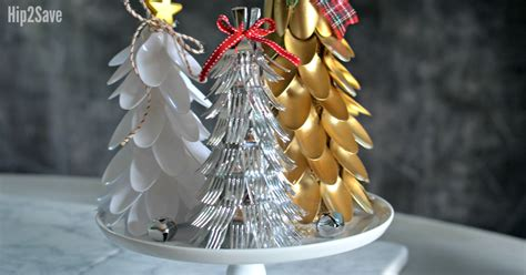plastic spoon fork christmas trees easy dollar store