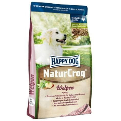 hunde lieben happy dog naturcroq fuer welpen