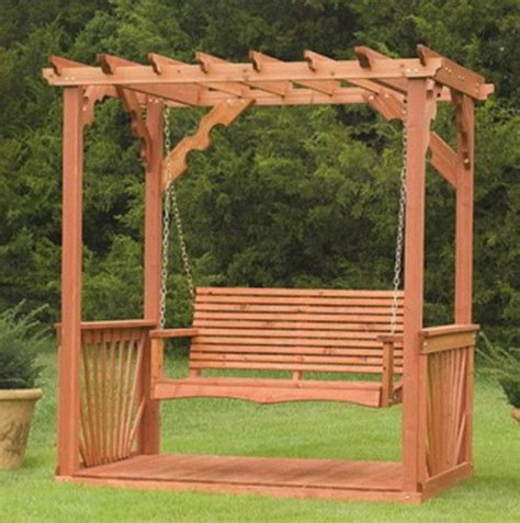 outdoor  wooden cedar wood pergola yard garden porch