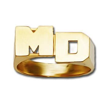 personalized gold stacked initial monogram ring mm  monogrammed