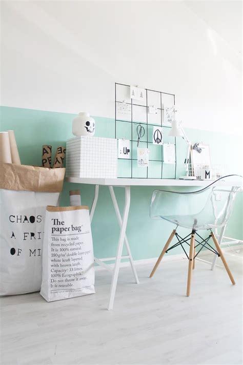 couleur mur bureau maison idée déco peinture intérieur maison les murs bicolores