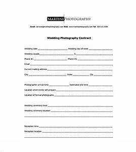 photography contract 9 download free documents in word pdf With free wedding contract forms