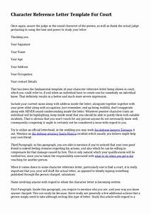 character reference letter template for court uk - character reference letter template for court