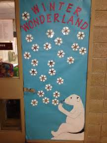 winter wonderland door decoration classroom displays