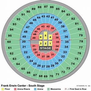 Erwin Center Basketball Seating Chart Frank Erwin Center Seating Chart Frank Erwin Center