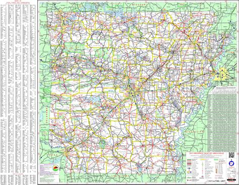 large detailed map  arkansas  cities  towns