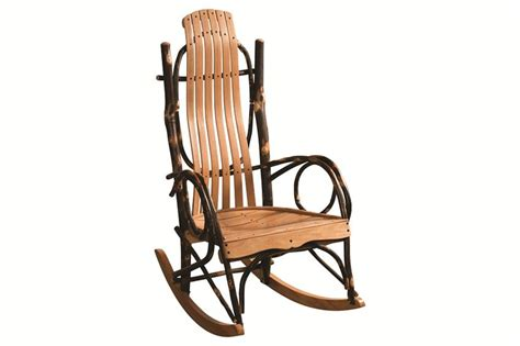 amish rustic hickory rocker from dutchcrafters amish furniture