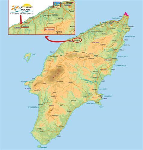stadtplan von rhodos detaillierte gedruckte karten von
