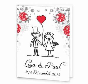 christmas stick couple mass booklet cover loving invitations With wedding invitations and mass booklets