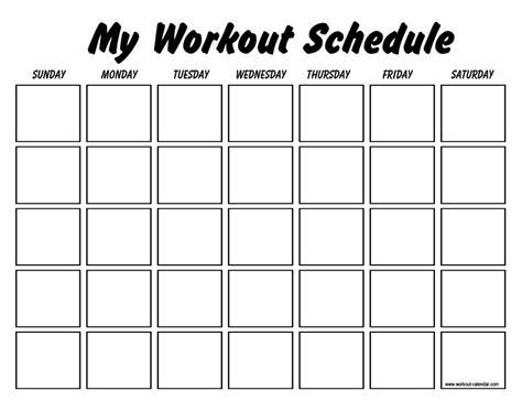 workout plan template    workout