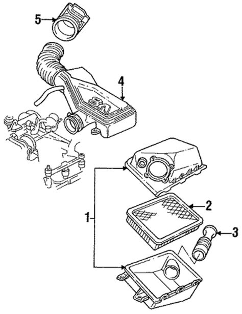 hayes car manuals 1993 lincoln continental seat position control service manual air cleaner shroud in a 1993 lincoln town car show diagram red 1992 1995 ford