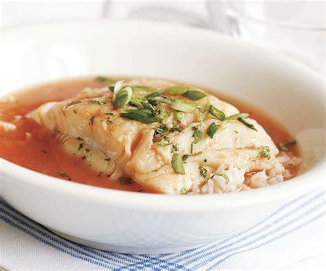 poached halibut  hot sour broth recipe tomato
