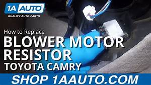 How To Replace Install Blower Motor Resistor 98 Toyota