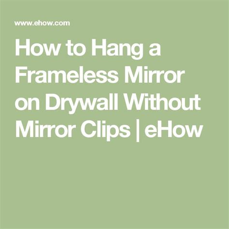How To Hang A Bathroom Mirror On Drywall 17 best ideas about mirror on cheap