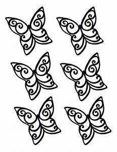 chocolate butterfly template clipart best With chocolate lace template