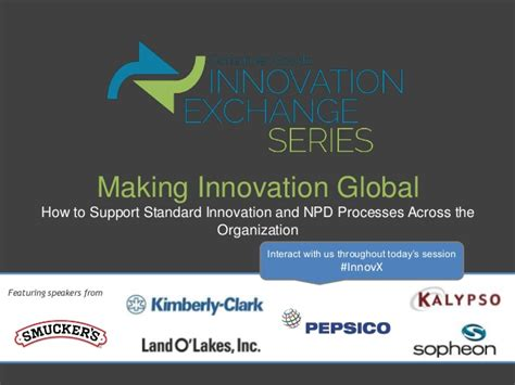 innovation global how to support standard innovation and npd