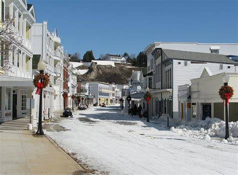 mackinac island in winter photograph by keith stokes