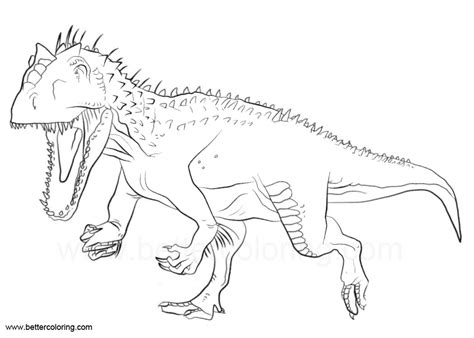 indoraptor coloring pages  jurassic world