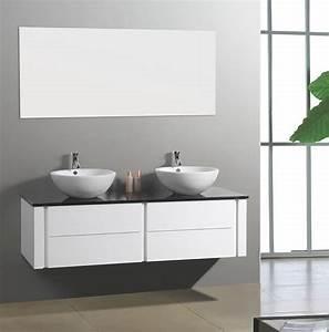 Meuble De Salle De Bain Double Vasque : salle de bain meuble paris grand meuble salle de bain double vasque suspendu ~ Teatrodelosmanantiales.com Idées de Décoration
