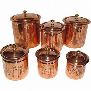The Best Set of Copper Kitchen Canisters I've Seen SOLD on