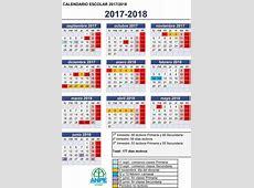 Calendario escolar 2017 1 2019 2018 Calendar Printable