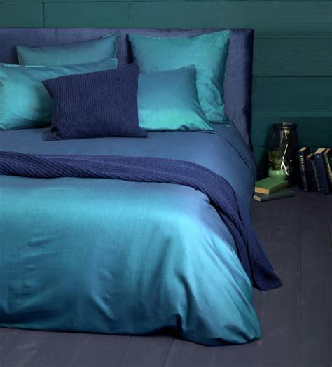 Twill Teal Duvet Cover  100% Cotton Sateen  Secret Linen
