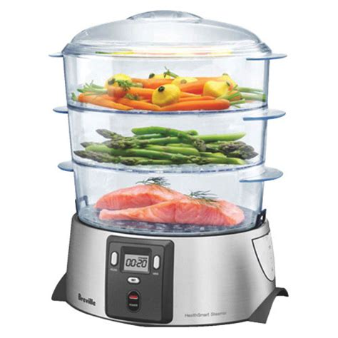 steamer cuisine breville health smart steamer food steamers best buy