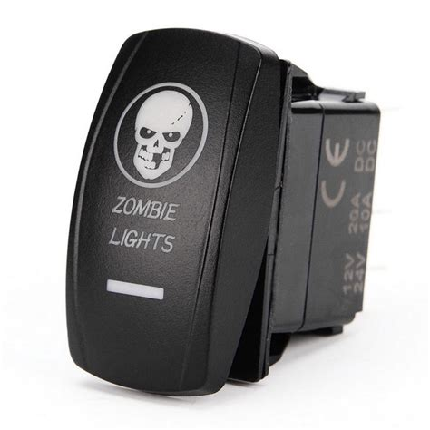 Iztoss Zombie Lights Rocker Switch For Boat Car
