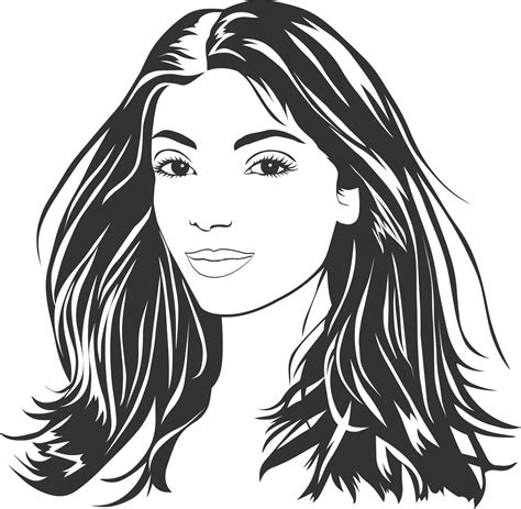 hair clipart black and white with black hair clipart clipground