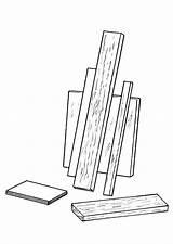 Bois Madera Dibujo Coloriage Colorear Tablas Coloring Legno Kleurplaat Disegno Colorare Holz Planken Houten Malvorlage Plaques Mensole Imprimir Mensola Dessins sketch template