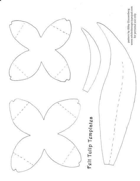 tulip template springtime craft tutorial felt tulips whileshenaps