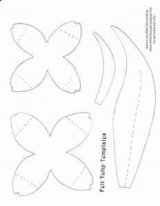 springtime craft tutorial felt tulips whileshenapscom With felt shape templates