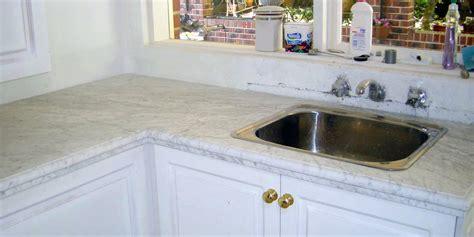 marble kitchen top white carrara 30mm stonemasons