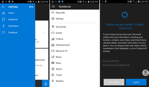 cortana on android cortana for android on and windows 10 mobile