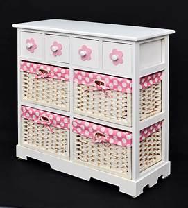 Körbe Für Schrank : landhaus stil romantik kommode schrank badregal sideboard weiss rosa 4 k rbe ebay ~ Eleganceandgraceweddings.com Haus und Dekorationen
