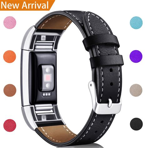 replacement bands fitbit charge 2 genuine leather wristband classic black ebay