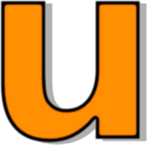 lowercase u clipart lowercase u orange signs symbol alphabets numbers
