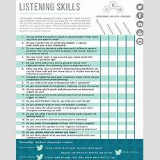 Free Worksheet Listening Skills Checklist  Shari Levitin