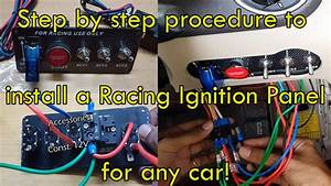 Any Car Racing Ignition Switch Installation
