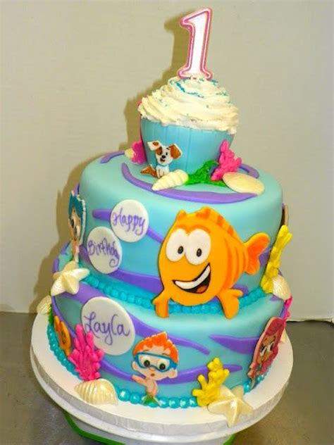 guppies cake decorations guppies birthday cake nic s 2nd birthday