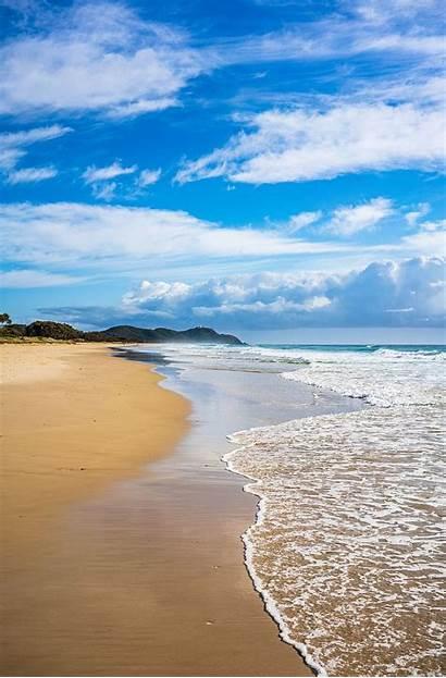 Lighthouse Byron Bay Bright Cloud Coastal Sea