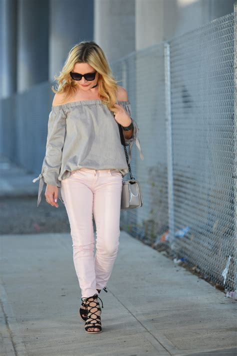 grey top blush jeans  hunter collector