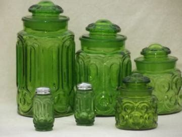 green glass kitchen canisters pantry storage canisters spice jars 3987