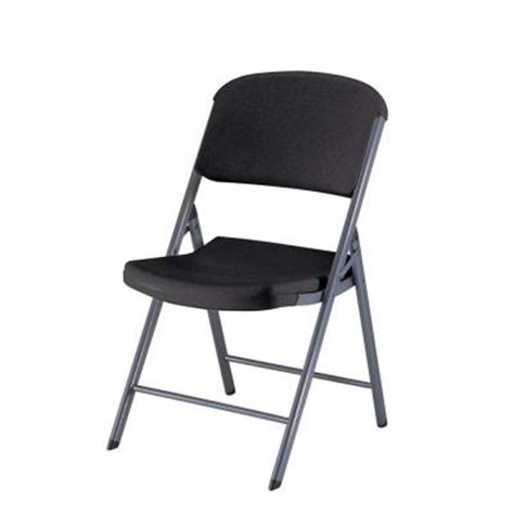 lifetime commercial contoured folding chair in black 4