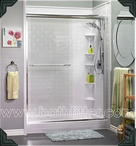 beautiful bath fitter walk  shower unit completed