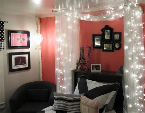 Teen Bedroom, Paris Pink, Fairy Lights, Black And Pink White Cabinets Kitchen With Wood Countertops Traditional Cabinet Hardware Outdoor Polymer Island Base Modern Pantry Continental And Counter Tops